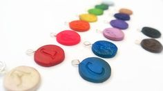 Charm  Aphabet Charms  Polymer Clay Charm  by BrandisHandmade, $7.00
