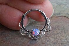 16 Gauge Purple Opal Daith Hoop Ring Daith by MidnightsMojo