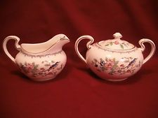 Aynsley Fine Bone China PEMBROKE 8 oz Creamer & Sugar Bowl - England