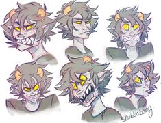 I feel like I haven't done little sketches like this in a while so I took a break from other stuff and messed with faces. with karkat. because what else would i draw.