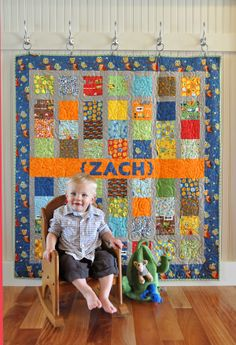 quilt hanging | The Chronicles of Home: {DIY} How to Hang a Quilt ....for Mamaw's quilt in Izzy's room!!!