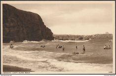 Lusty Glaze Beach, Newquay, Cornwall, c.1930s - Photochrom Postcard