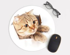 Mouse Pad Mousepad Cat  M139 by Pattynapit on Etsy