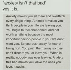 28- my anxiety has stopped me from doing so many things and like I hate it I always wonder what it's like not to have anxiety or not to be shy