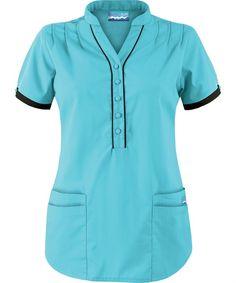 Scrubs, Nursing Uniforms, and Medical Scrubs at Uniform Advantage Scrubs Uniform, Scrubs Outfit, Scrubs Pattern, Work Uniforms, Medical Scrubs, Nursing Dress, Collar Top, Work Tops, Scrub Tops