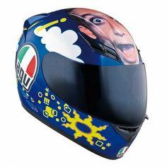 Casco Agv Valentino Rossi Motogp Sepang 2005 World Champion 2005 1:2 Replica