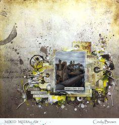 Les péripéties de Talkis: Mon premier articles pour MIxed Media And Art Prima Marketing, Ink Painting, Texture Painting, Layout Inspiration, Scrapbooks, Monthly Challenge, Place, Cards, Dots
