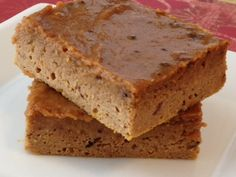 "Pumpkin Pie ""Blondies"" - The Kitchen Table - The Eat-Clean Diet®"
