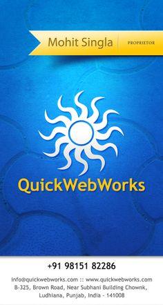 Quickwebworks is a small web design studio, located in ludhiana.