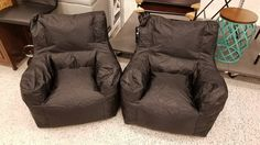 Fat Boy Dorm Bean Bag Chairs. These are my favorite as the beans are more compacted and great for smaller kids too!