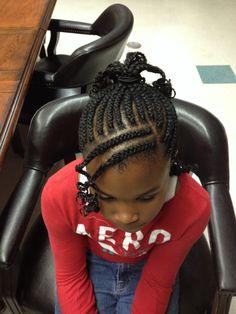Little girl natural hair style
