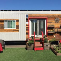 A new tiny house from the green-living blog, Greenmoxie. A 340 sq ft tiny house with an eco-friendly and off-grid ready design!