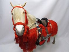 "This is very fine Japanese anqitue large horse doll in original wood box.  ""Sekku-Ningyo"" or horse doll for ""Tango-no-Sekku""  Tango-no-Sekku is baby boy's sarabration on May 1th. Japanese old tradition that display ""Ningyo"" such as Samurai, Tiger, horse or etc. on that day. Baby girl's sarabration day is March 3rd. On that day, we display Hino-doll."