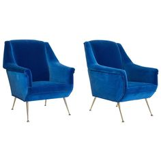 Poltrone Regina Mid-Century Armchairs | From a unique collection of antique and modern armchairs at http://www.1stdibs.com/furniture/seating/armchairs/