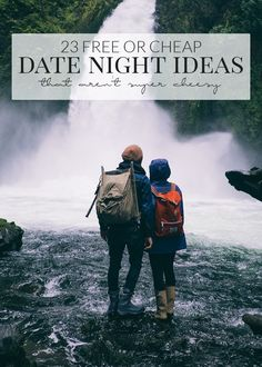 These twenty-three free or cheap date night ideas that aren't super cheesy are sure to add some fun into your dates!