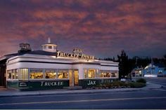 Jax at the Tracks, Truckee, California  (Awesome, and mentioned on Triple-D)  Approximately $10-15 per person.