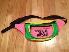 New Kids on the Block Neon Fanny Pack {used to have one} // 90's Childhood Memory (1990)