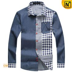Mens Fashion Long Sleeve Cotton Shirts CW114530  Our fashion fitted long sleeve cotton shirts for men crafted from durable, premium cotton. Features with modern fit, seven button down and front pockets!