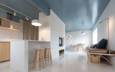 Blåmalt tak