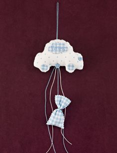 Blue Polka Dots, Blue Stripes, Cotton Clouds, Blue Overalls, Baptism Favors, White Tulle, Christening Gifts, White Embroidery, The Balloon