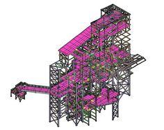Electric melting plant - Workshop documentation of steel structures