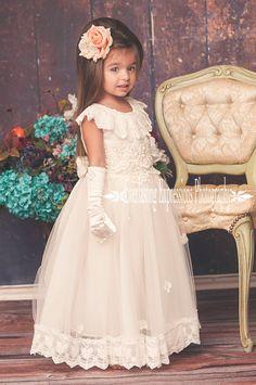 Exquisite Angel Flower Girl Dress by MelissaJaneBoutique on Etsy