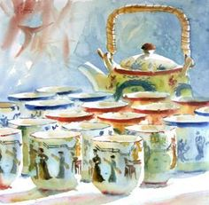 watercolor by Charles Sluga