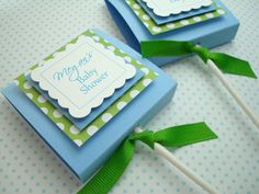 Baby Boy Lollipop Favors by Etsy.  #handmade #printdesign #favor