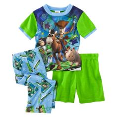 Toy Story Infant Boys 3pc Pajama Set - Green/Blue.Opens in a new window