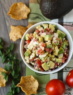 Full of bone-friendly ingredients, this Avocado & Feta Salsa is a great party snack! #osteoporosis