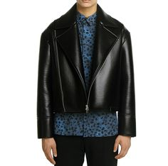 BLINDNESS OVERSIZE NEOPRENE LEATHER JACKET