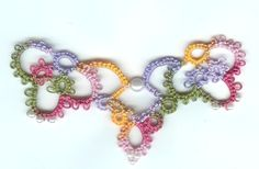 Tatted Rhapsody necklace from Shuttle Tatting course on Craftsy