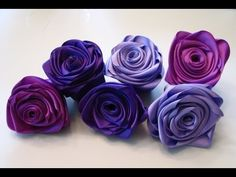 Tutorial # 07 Quilling Made Easy # How to Make Silk, Satin or Ribbon Roses -Ribbon Roses Art - YouTube