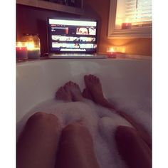 Bubble bath goals #Samelove   #Love found on Polyvore featuring polyvore