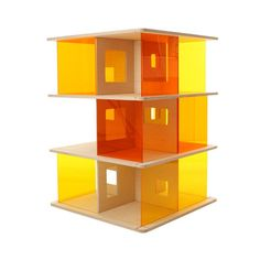 colored dollhouse