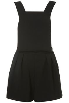 Crepe Pinafore Playsuit from Topshop Black Romper, Perrie Edwards Style, Playsuits, Street Chic, Dress To Impress, Beautiful Outfits, Fashion Outfits, Fashion 2014