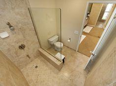 Walk-in Shower #bathroom Burgin Construction