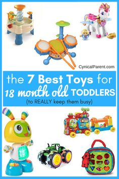 We& put together a list of the best toys for 18 month old toddlers - ones that will entertain, excite, and educate your child - to help you avoid spending hours shopping and eventually buying toys that will just sit on the shelf. Best Toddler Toys, Toddler Snacks, Toddler Gifts, Toddler Preschool, Toddler Activities, Baby Gifts, Toddler Play, Toddler Learning, Baby Play