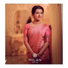 Check out these latest bridal kanchipuram silk sarees by the brand Milan Design. Kerala Wedding Saree, South Indian Wedding Saree, Punjabi Wedding, Indian Weddings, Romantic Weddings, Saree Wedding, Boho Wedding, Wedding Reception, Kerala Saree Blouse Designs