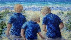 Gallery – Palette Knife Paintings by Meredith Hannon Palette Knife Painting, Oil On Canvas, Paintings, Landscape, Gallery, Boys, Beach, Art, Baby Boys
