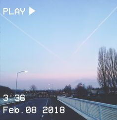 M O O N V E I N S 1 0 1      #vhs #aesthetic #sunrise #light #sky #clouds #pink #blue #bridge