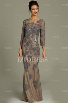 Custom Mother of the Bride Evening Dresses - Ball Gowns - Sleeve ...