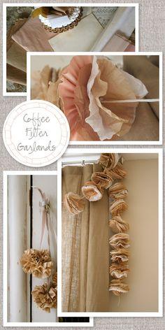 Coffee Filter Garlands