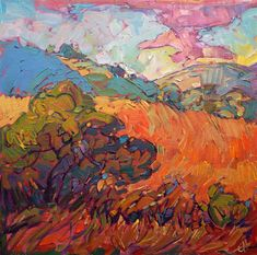 Colorful California impressionism by modern landscape painter Erin Hanson