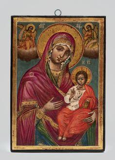 Christian Art, Byzantine, Virgin Mary, Ikon, Madonna, Jesus Christ, Mona Lisa, Antiques, Artwork