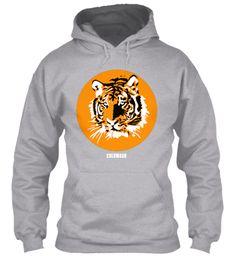 RETRO TIGER 8 oz hoodie.  Free shipping *U.S.A.