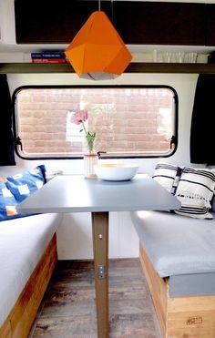 Happy Campers, Vw Bus, Airstream, Glamping, Caravan Makeover, Tent Campers, Vans Style, Van Life, Motorhome