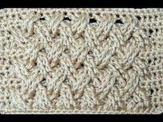 Crochet : Punto Entrecruzado Plano - YouTube  ✿Teresa Restegui http://www.pinterest.com/teretegui/✿