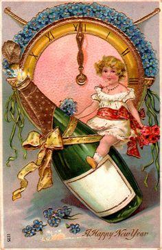golden gilt embossed vintage antique retro old easter greetings postcards images hd Vintage Happy New Year, Happy New Year 2015, Happy New Year Cards, New Year Wishes, New Year Greetings, Vintage Christmas Cards, Vintage Holiday, Vintage Cards, Vintage Paper