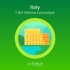 I covered 1,184 kilometers with my #Fitbit and earned the Italy badge.